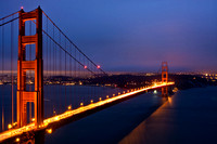 San Francisco's Golden Gate Bridge at Sunset