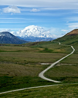 Road to Alaska's Mount McKinley