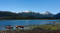 Kayaks in Alaska's Prince William Sound
